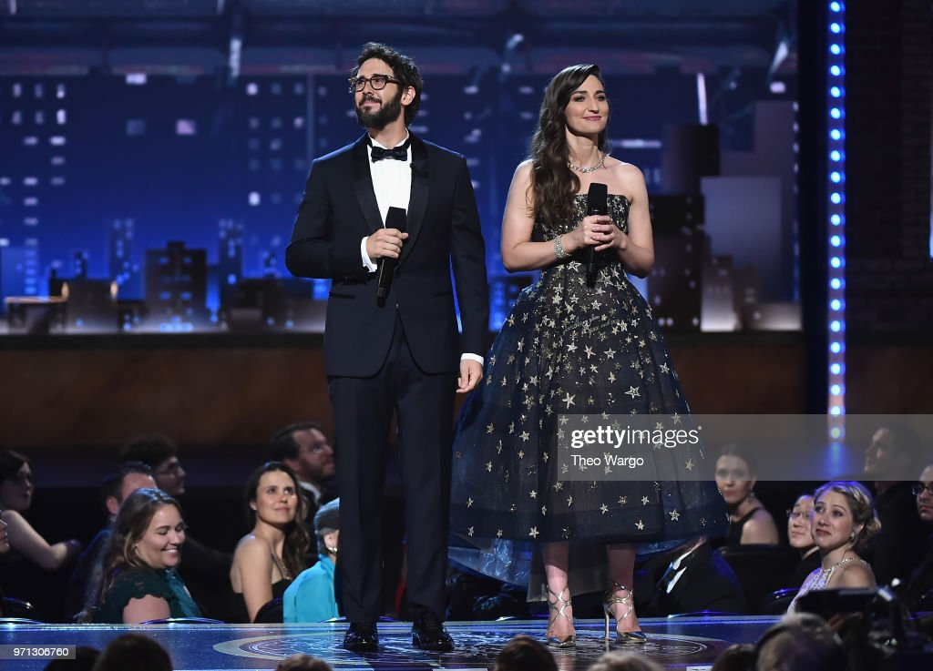 Josh Groban and Sara Bareilles speak onstage during the 72nd Annual Tony Awards at Radio City Music Hall on June 10, 2018 in New York City.