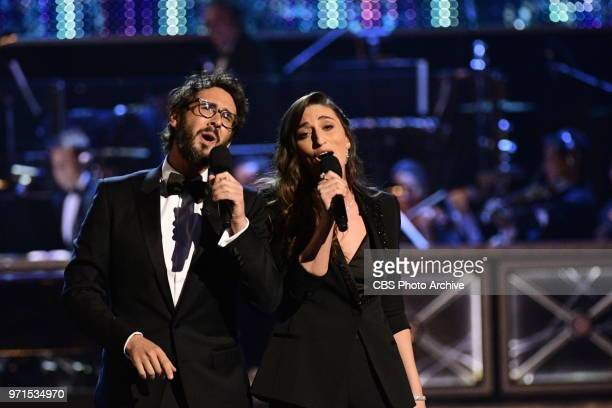 Josh Groban and Sara Barilles at THE 72nd ANNUAL TONY AWARDS broadcast live from Radio City Music Hall in New York City on Sunday June 10 2018 on the...