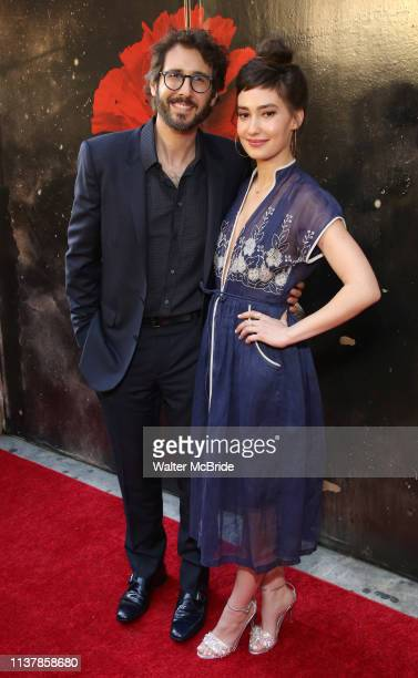 Josh Groban and Schuyler Helford attend the Broadway Opening Night Performance of Hadestown at the Walter Kerr Theatre on April 17 2019 in New York...