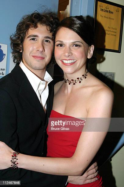 Josh Groban and Sutton Foster during 3rd Annual Actors Fund of America Benefit Production of 'Chess' at New Amsterdam Theater in New York City New...