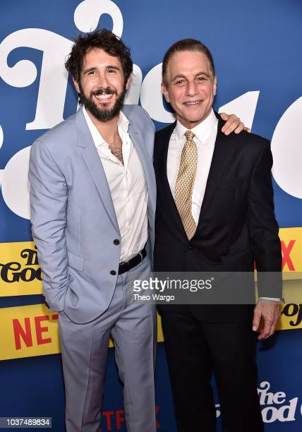 Josh Groban and Tony Danza attend 'The Good Cop' Season 1 Premiere at AMC 34th Street on September 21 2018 in New York City