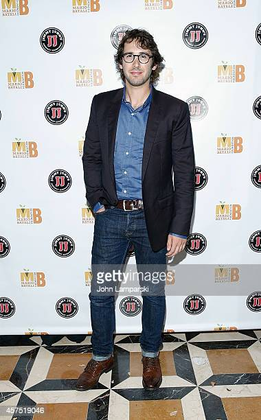 Josh Groban attends 3rd Annual Mario Batali Foundation Benefit Dinner at Del Posto Ristorante on October 19 2014 in New York City