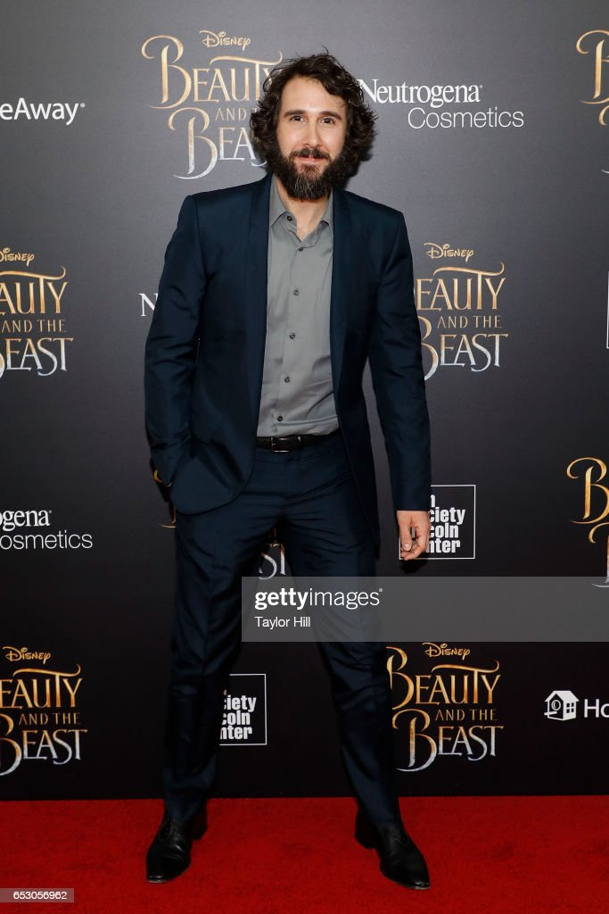 Josh Groban attends the 'Beauty and the Beast' New York screening at Alice Tully Hall, Lincoln Center on March 13, 2017 in New York City.