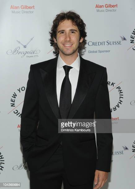 Josh Groban attends the New York Philharmonic 201011 Season Opening Night Gala at Avery Fisher Hall at Lincoln Center for the Performing Arts on...
