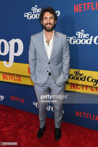 Josh Groban attends the New York Premiere of Netflix's Original Series The Good Cop at AMC Loews 34th Street 14 on September 21 2018 in New York City