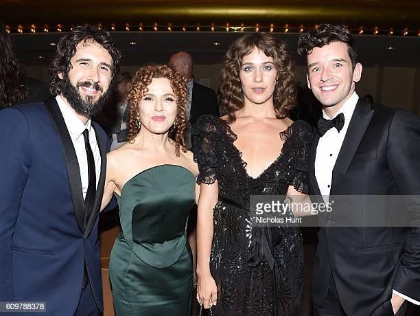 Josh Groban Bernadette Peters Lola Kirke and Michael Urie attend New York Philharmonic's Opening Gala Celebrating the 175th Anniversary Season at...