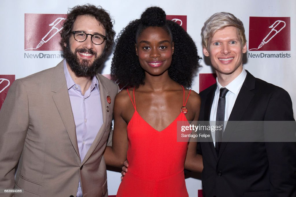 Josh Groban, Denee Benton and Lucas Steele attend the 68th Annual New Dramatists Spring Luncheon at New York Marriott Marquis Hotel on May 16, 2017 in New York City.