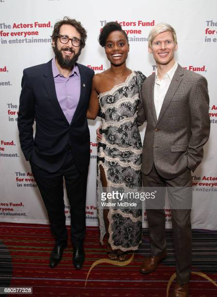 Josh Groban Denee Benton and Lucas Steele attend The Actors Fund Annual Gala at the Marriott Marquis on 5/8//2017 in New York City