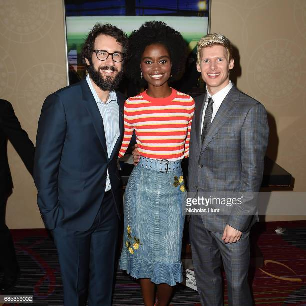 Josh Groban Denee Benton and Lucas Steele attends the 83rd Annual Drama League Awards Ceremony and Luncheonat Marriott Marquis Times Square on May 19...