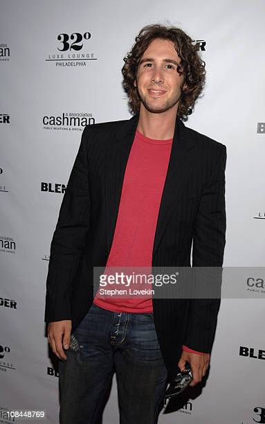 Josh Groban during LIVE 8 Philadelphia 'Blender' After Party at 32 Degrees Luxe Lounge in Philadelphia Pennsylvania United States