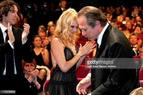 Josh Groban January Jones and Tommy Lee Jones Winner of Best Actor Award for 'The Three Burials Of Melquiades Estrada'