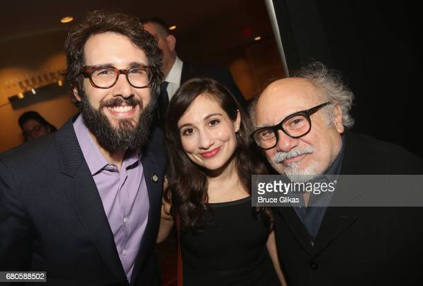 Josh Groban Lucy DeVito and Danny DeVito pose at the The 2017 Actors Fund Gala honoring Danny DeVito and Sally Field at The Marriott Marquis Times...