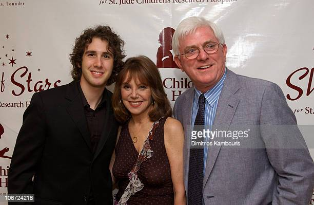 Josh Groban Marlo Thomas and Phil Donahue during St Jude Children's Research Hospital Shower of Stars 40th Anniversary Backstage and Show at Cannon...