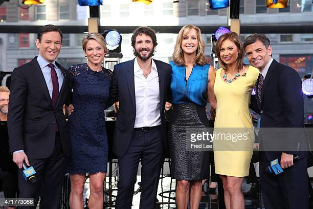AMERICA Josh Groban performs live on 'Good Morning America' 4/28/15 airing on the ABC Television Network