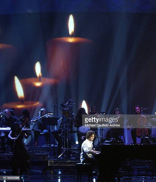 Josh Groban performs 'Remember When It Rained' during 32nd Annual American Music Awards Show at Shrine Auditorium in Los Angeles California United...