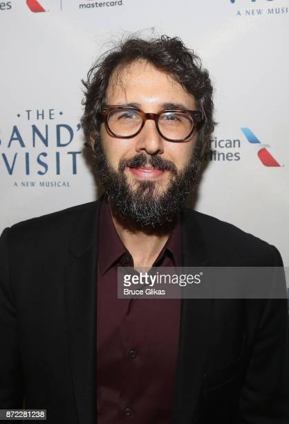 Josh Groban poses at the opening night of 'The Band's Visit' on Broadway at The Ethel Barrymore Theatre on November 9 2017 in New York City