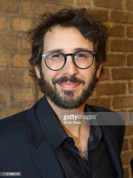 Josh Groban poses at the opening night of the new musical Hadestown on Broadway at The Walter Kerr Theatre on April 17 2019 in New York City