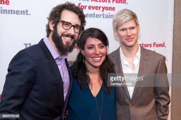 Josh Groban Rachel Chavkin and Lucas Steele attend The 2017 Actors Fund Gala at Marriott Marquis Times Square on May 8 2017 in New York City
