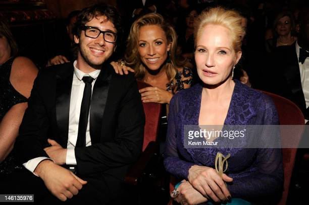 Josh Groban, Sheryl Crow and Ellen Barkin attend the 66th Annual Tony Awards at The Beacon Theatre on June 10, 2012 in New York City.