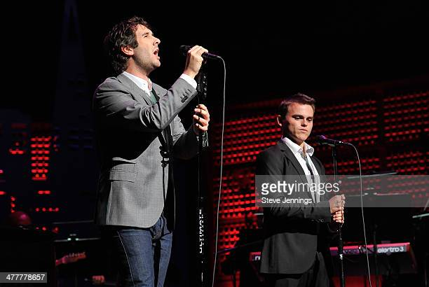 Josh Groban sings with a member of The Painted Turtle camp at the UCSF Medical Center and The Painted Turtle Present A Starry Evening of Music Comedy...