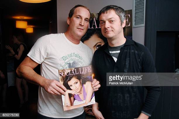 Josh Guberman and Mo Stojnovic attend SOCIAL LIFE Magazine Cover Party Sponsored by SARAR and PERONI at Soho House Library on April 24 2008 in New...