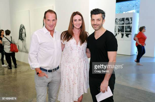 Josh Guberman Meggan Guberman and Tigran Tsitoghdzyan attends the Tigran Tsitoghdzyan Uncanny show at Allouche Gallery on June 14 2018 in New York...