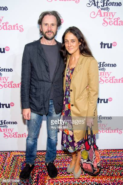 Josh Hamilton and Lily Thorne attend At Home With Amy Sedaris New York Screening at The Bowery Hotel on October 19 2017 in New York City