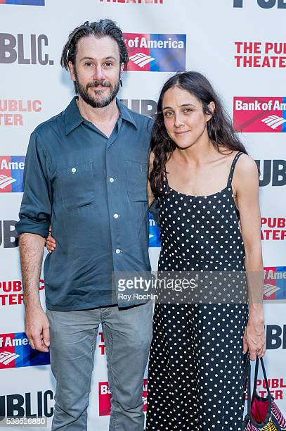 Josh Hamilton and Lily Thorne attend the 2016 Public Theater Gala at Delacorte Theater on June 6 2016 in New York City