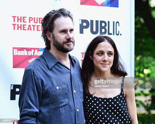 Josh Hamilton and Lily Thorne attend the Delacorte Theater on June 6 2016 in New York City
