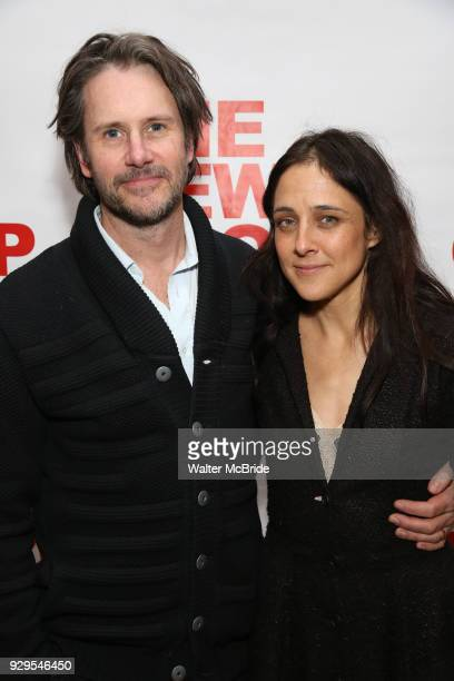 Josh Hamilton and Lily Thorne attend The New Group presents the New York Premiere Opening Night of David Rabe's for Good for Otto on March 8 2018 at...
