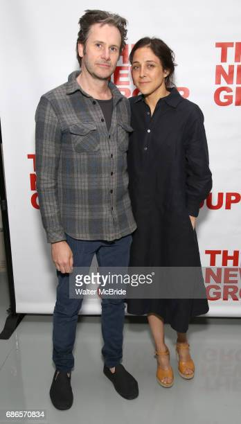 Josh Hamilton and Lily Thorne attend the New Group World Premiere of Hamish Linklater's 'The Whirligig' at Green Fig's Social Drink and Food Club...