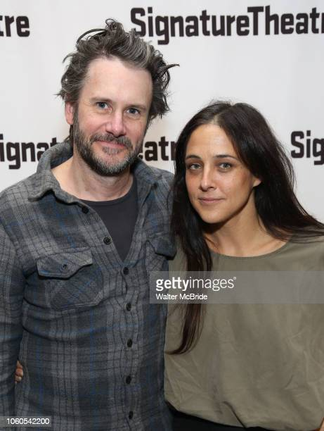 Josh Hamilton and Lily Thorne attend the OffBroadway Opening Night of the Signature Theatre's 'Thom Pain' at the Signature Theatre on November 11...
