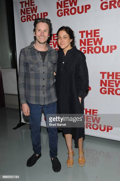 Josh Hamilton and Lily Thorne attend the The Whirligig OffBroadway Opening Night at Social Drink and Food Club Terrace on May 21 2017 in New York City