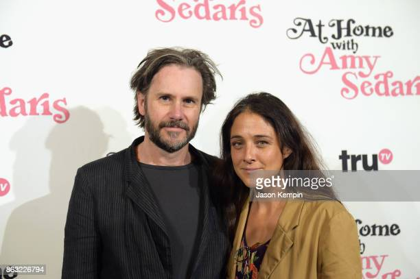 """Josh Hamilton and Lily Thorne attends the premiere screening and party for truTV's new comedy series """"At Home with Amy Sedaris"""" at The Bowery Hotel..."""