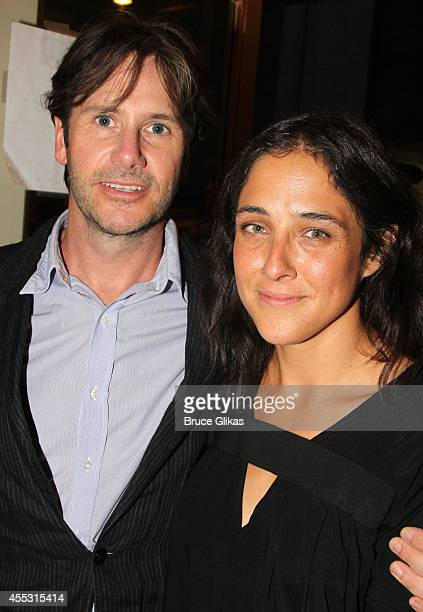Josh Hamilton and Lily Thorne pose at The Opening Night arrivals of This Is Our Youth on Broadway at The Cort Theatre on September 11 2014 in New...
