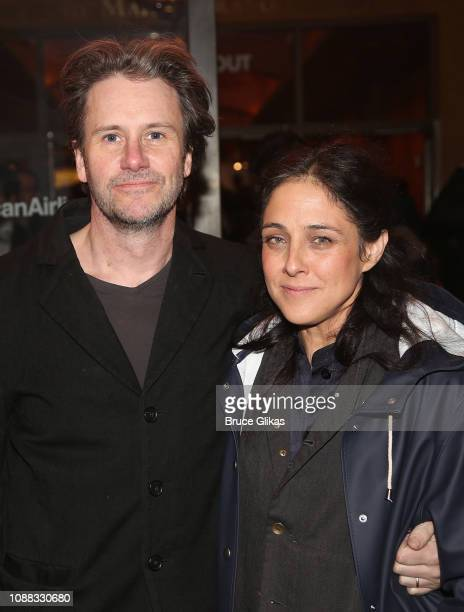 Josh Hamilton and Lily Thorne pose at the opening night of the Roundabout Theatre Company's production of Sam Shepard's True West on Broadway at The...