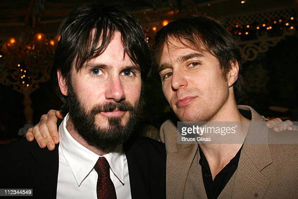Josh Hamilton and Sam Rockwell during Opening Night of Tom Stoppard's 'The Coast of Utopia Voyage' at Tavern On The Green in New York NY United States