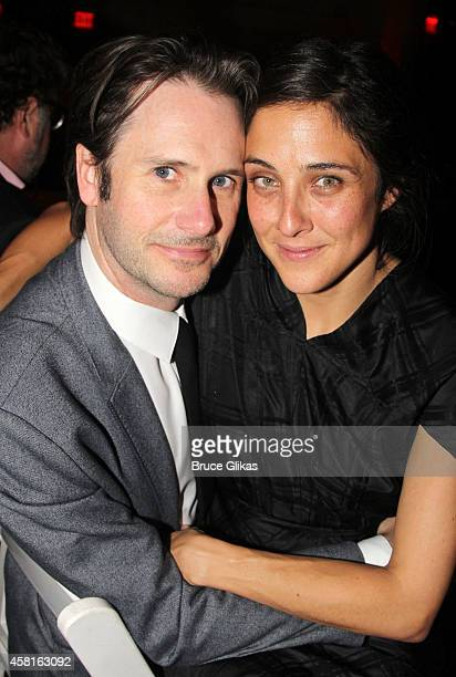 Josh Hamilton and wife Lily Thorne at The Opening Night After Party for The Real Thing on Broadway at The Liberty Theatre on October 30 2014 in New...
