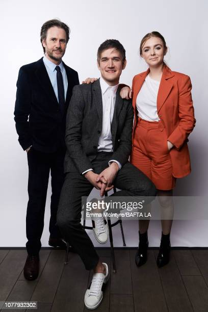 Josh Hamilton Bo Burnham and Elsie Fisher pose for a portrait at The BAFTA Tea Party on January 5 2019 in Beverly Hills California