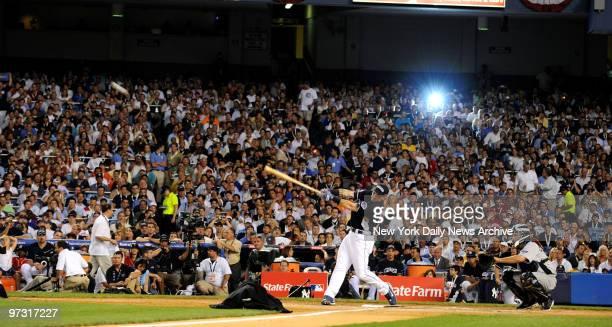 Josh Hamilton in the Home Run Derby., 2008 All-Star Game Home Run Derby at Yankee Stadium