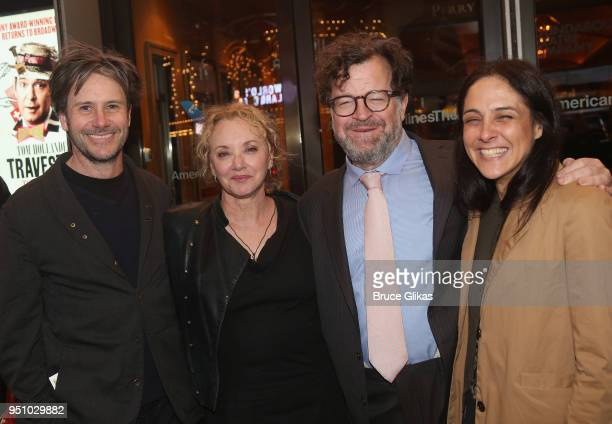 Josh Hamilton J Smith Cameron Kenneth Lonergan and Lily Thorne pose at the opening night of Tom Stoppard's play Travesties on Broadway at The...