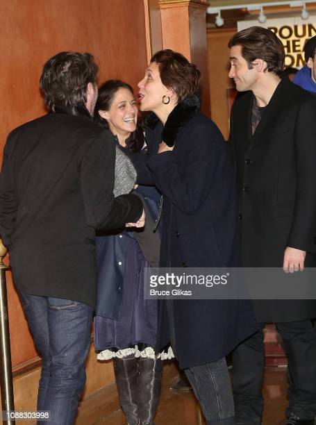 Josh Hamilton Jake Gyllenhaal Maggie Gyllenhaal and Lily Thorne at the opening night after party for the Roundabout Theatre Company's production of...