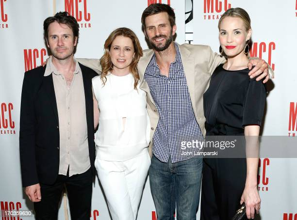 Josh Hamilton Jenna Fischer Fred Weller and Leslie Bibb attend Reasons To Be Happy Broadway Opening Night After Party at 49 Grove on June 11 2013 in...
