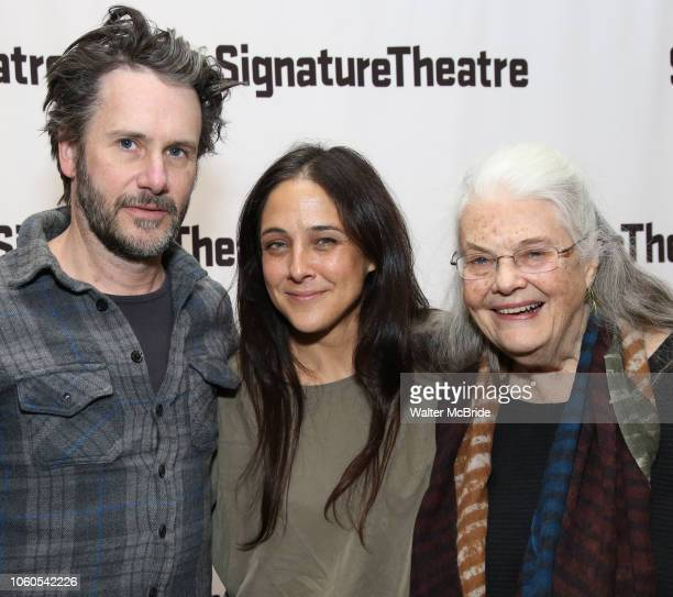 Josh Hamilton Lily Thorne and Lois Smith attend the OffBroadway Opening Night of the Signature Theatre's 'Thom Pain' at the Signature Theatre on...