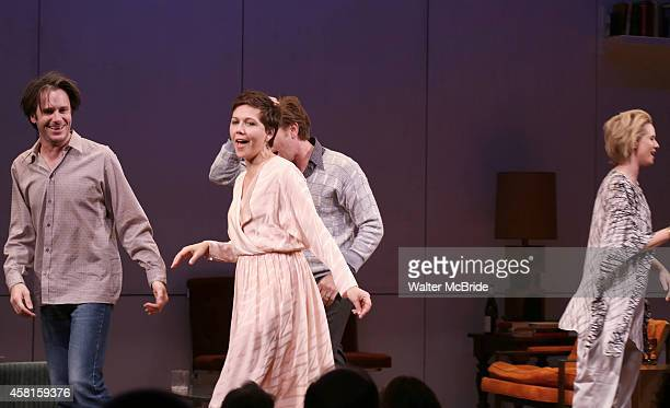Josh Hamilton Maggie Gyllenhaal Ewan McGregor Cynthia Nixon during the Roundabout Theatre Company's Broadway Opening Night Curtain Call for 'The Real...