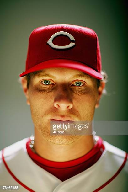 Josh Hamilton of the Cincinnati Reds poses during Photo Day on February 23 2007 at Ed Smith Stadium in Sarasota Florida