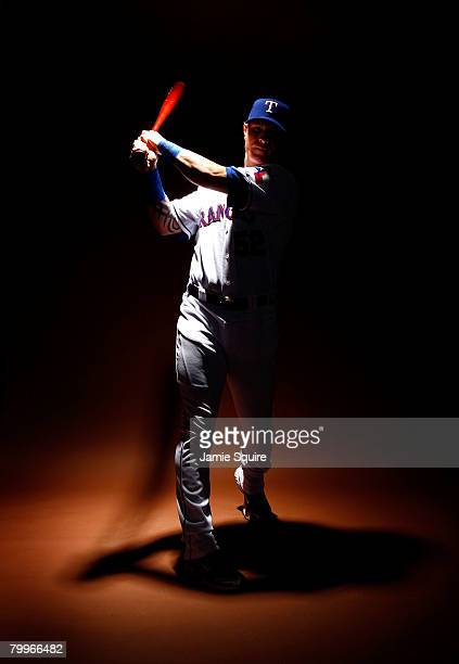 Josh Hamilton of the Texas Rangers poses for a portrait during spring training on February 24 2008 at Surprise Stadium in Surprise Arizona