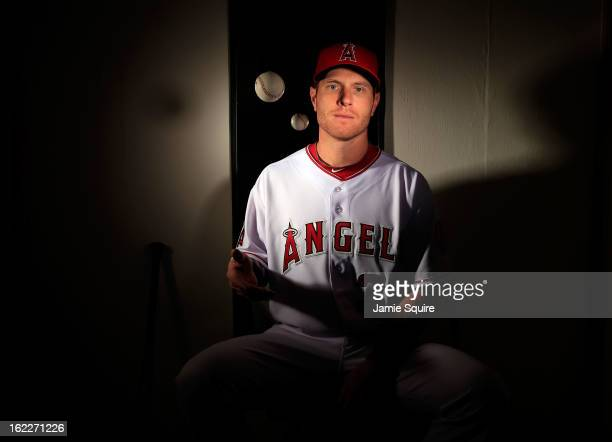 Josh Hamilton poses during the Los Angeles Angels of Anaheim Photo Day on February 21 2013 in Tempe Arizona