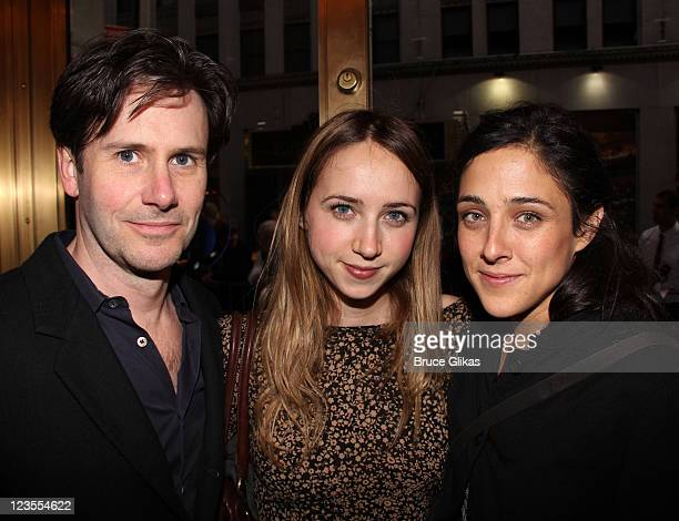 Josh Hamilton Zoe Kazan and Lily Thorne pose at the opening night of Arcadia on Broadway at the Ethel Barrymore Theatre on March 17 2011 in New York...