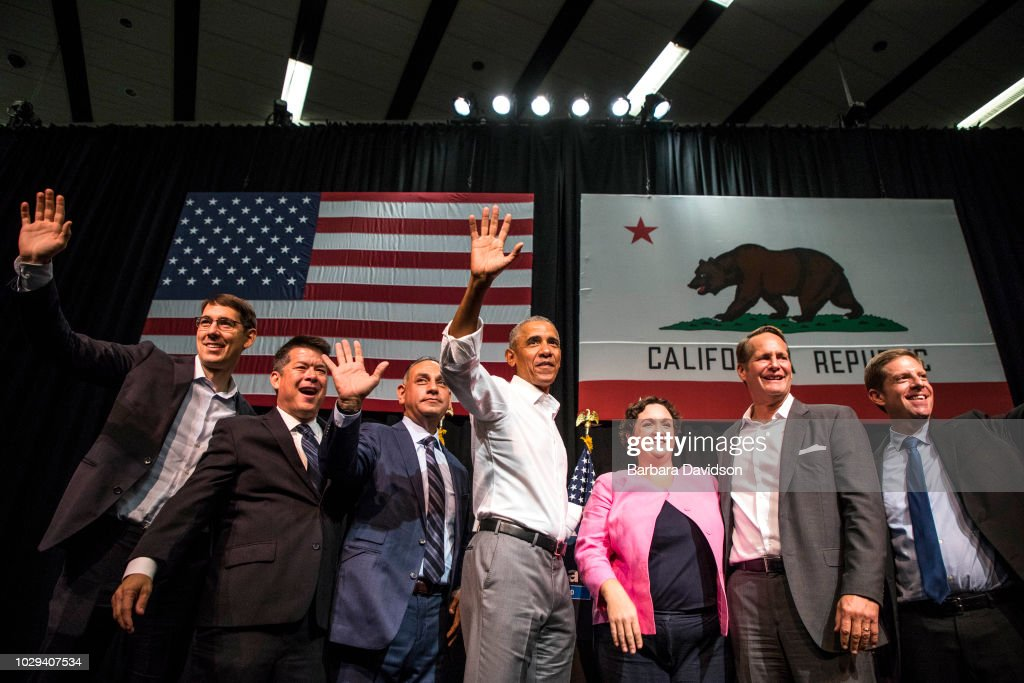 President Obama Attends California Democratic Party Rally : News Photo